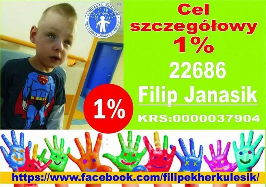 Filip Janasik, przekaż 1%, neurorehabilitacja