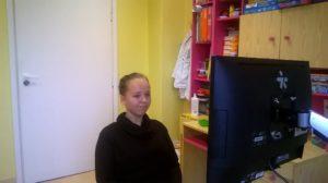 Natalia, ćwiczenia, c-eye, cyber-oko, gabinet neurorehabilitacji, Szczecin